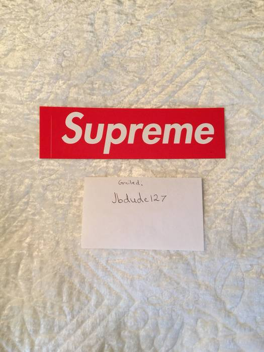 fee7435a015f Supreme Supreme Sticker Authentic Box Logo Red Size one size ...