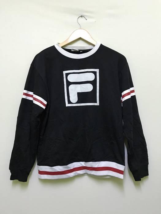 2eea3aa833d6 Fila. rare fila big logo colourblock embroidered logo promo sweatshirts