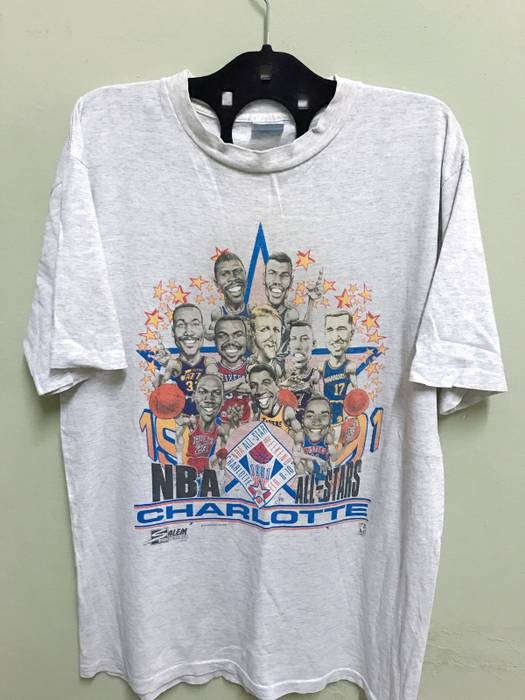 Jordan Brand 1990 Nba All Stars Vintage Shirt Size l - Short Sleeve ... 4e79256bf