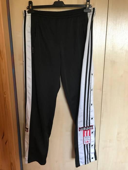 a955f4e8f13b Adidas Rare Sidestripe Adidas Black Pants Tracksuit Bottom Adibreak  Trailway Three Striped Badge Patch Not Like