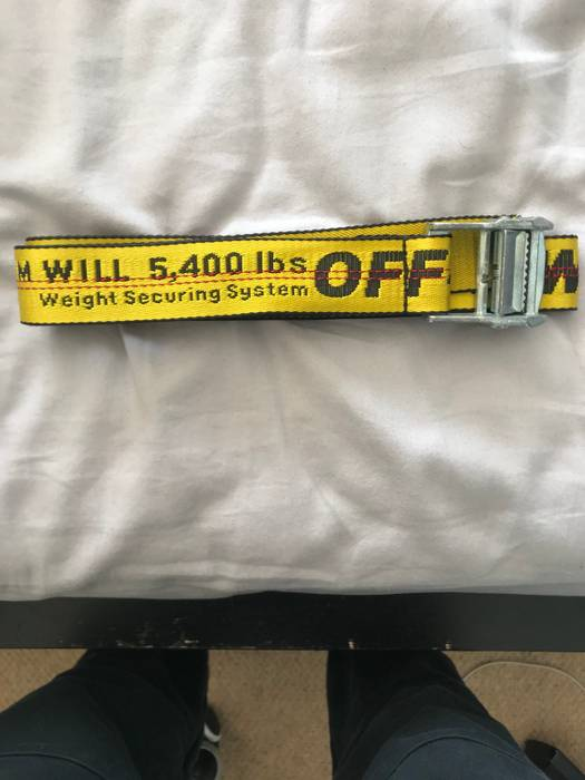 ec888da4cae5 Off-White Off White Industrial Belt Yellow Size one size - Belts for ...
