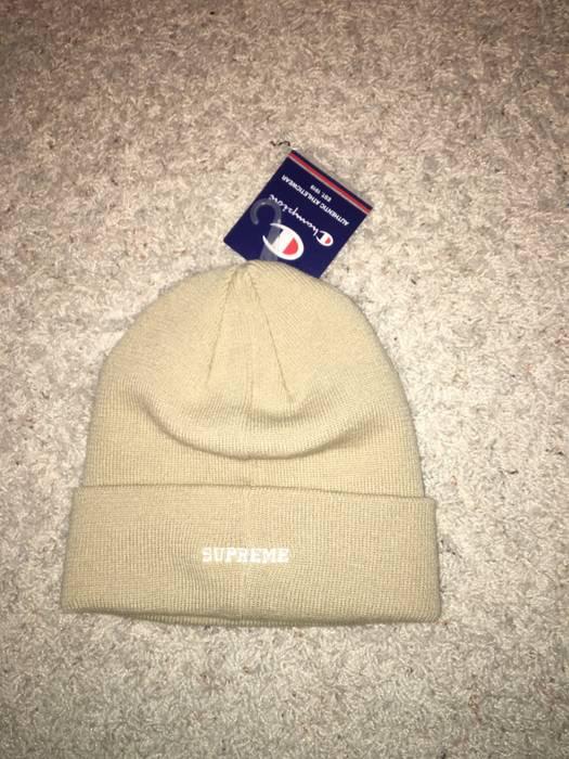 9d98bfc26da Supreme Supreme Champion 3D Metallic Beanie Tan Size one size - Hats ...