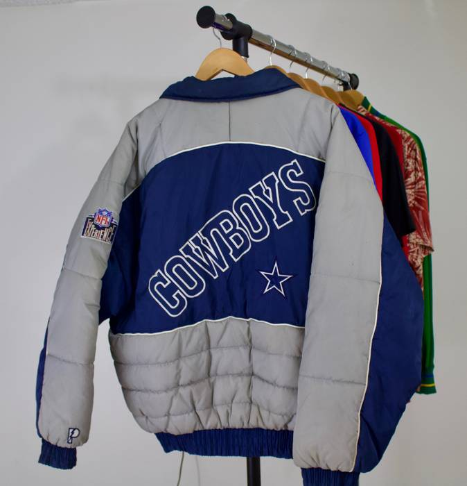6b8a0e182 Nfl 90 s Pro Player Dallas Cowboys Puffer Pullover Jacket Size US XL   EU  56