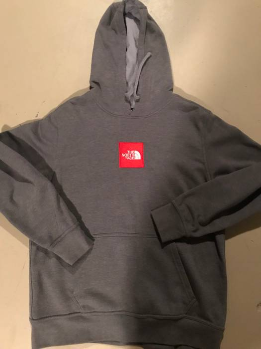 The North Face Northface Box Logo Stitched Hoodie Size l ... dc7665331