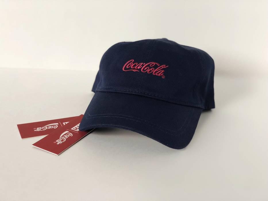 f8e24e7fa58 Kith Nyc KITH x COCA COLA CLASSIC COKE LOGO CAP NAVY RED BLK DAD HAT MULTI