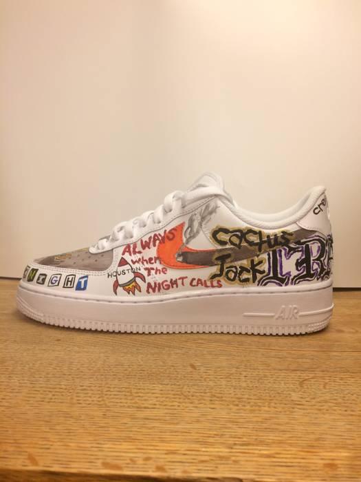 Nike Travis Scott Custom AF1 s Size 9 - Low-Top Sneakers for Sale ... 858b2ec7a