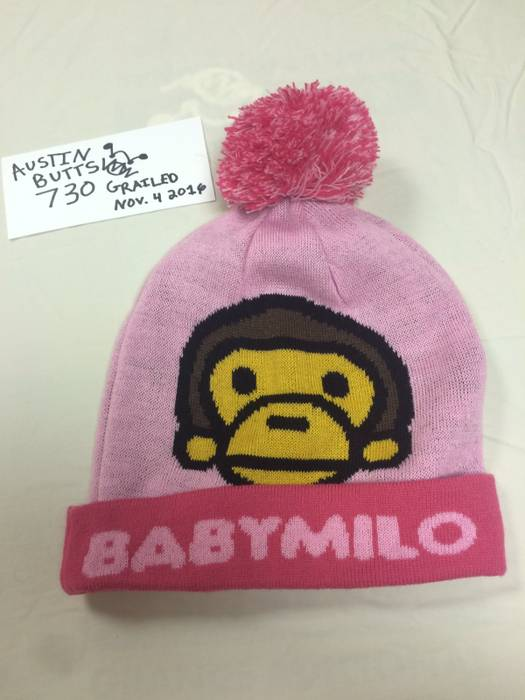Bape Baby Milo Pink Bape Beanie Size one size - Hats for Sale - Grailed f331105bf24