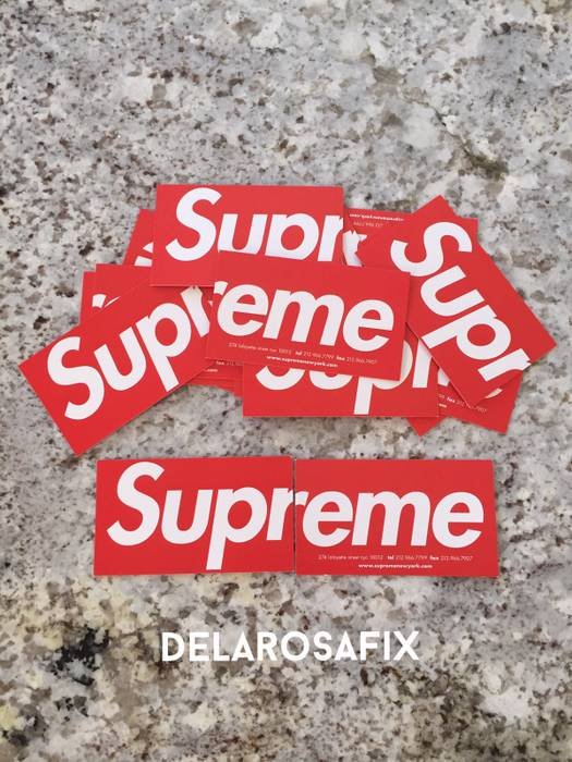 Supreme Supreme Business Cards From Soho Ny Size One Size Supreme