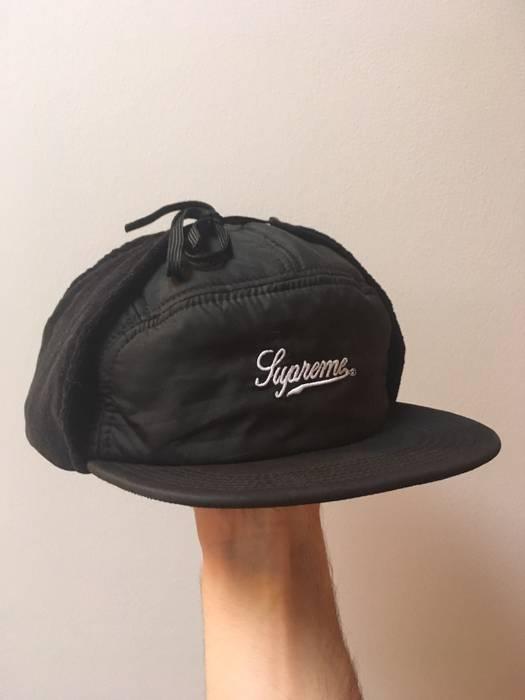 1c9de457a39 Supreme Supreme Script Logo 5-Panel Ear Muff Hat Size one size ...