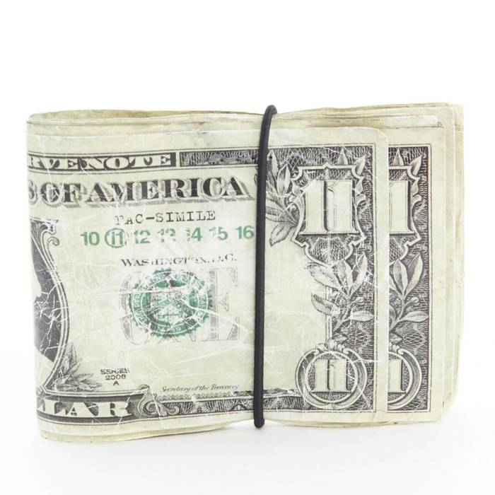 435701b6afb2d6 ... Leather Wallet Size One. Maison Margiela Martin 11 Dollar Bill Elastic  Band Bifold