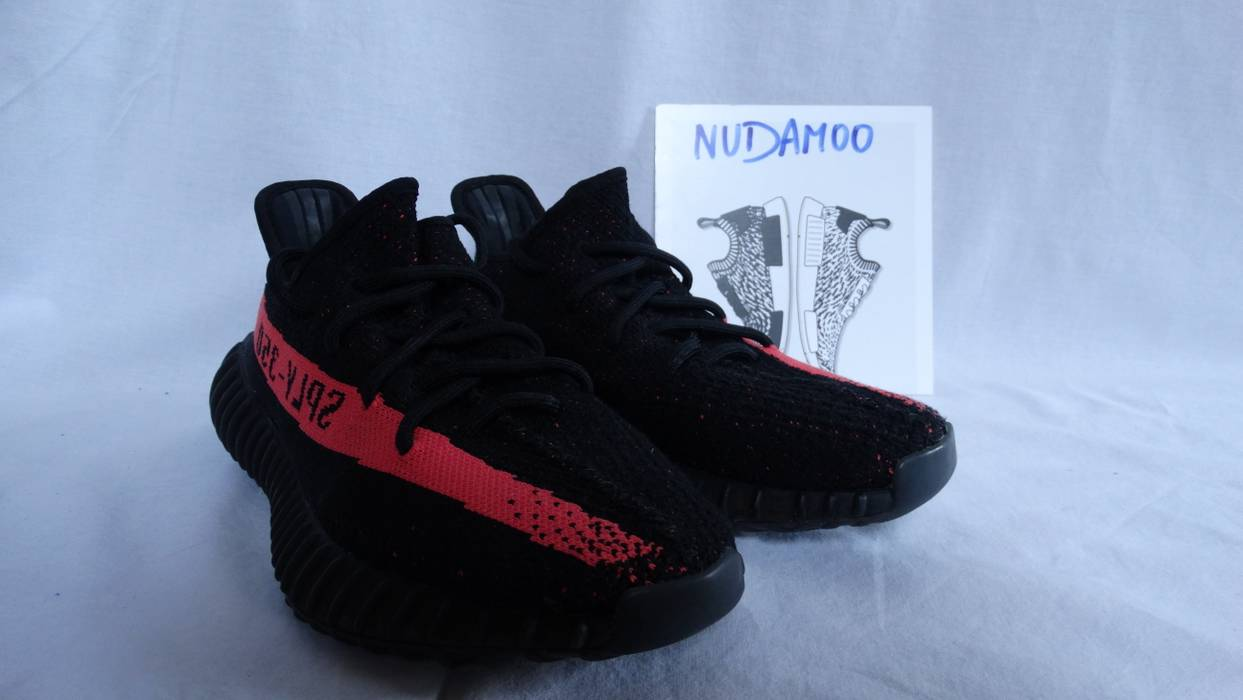 370ff7a6026 Adidas adidas Yeezy Boost 350 V2 Core Black Red Stripe BY9612 US 7 UK 6.5 EU