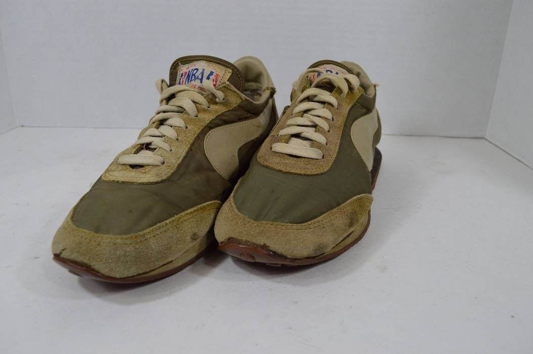 19d09344e18b Vintage Vintage 70s NBA BRAND Mens 9 Policing The Swoosh Upside Down Swoosh  Shoes Gray Rare