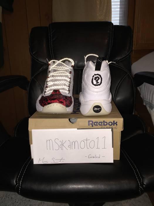 87481a9cf95 Reebok Reebok Question Mid Prototype Men s Shoes White Red Black Size US  11.5