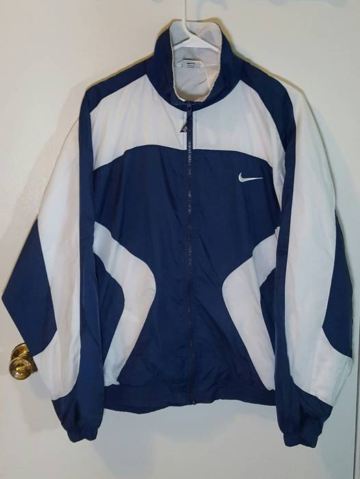 7df8624e2371 Nike Vintage Nike Windbreaker Blue White Mens Sz L Size l - Light ...