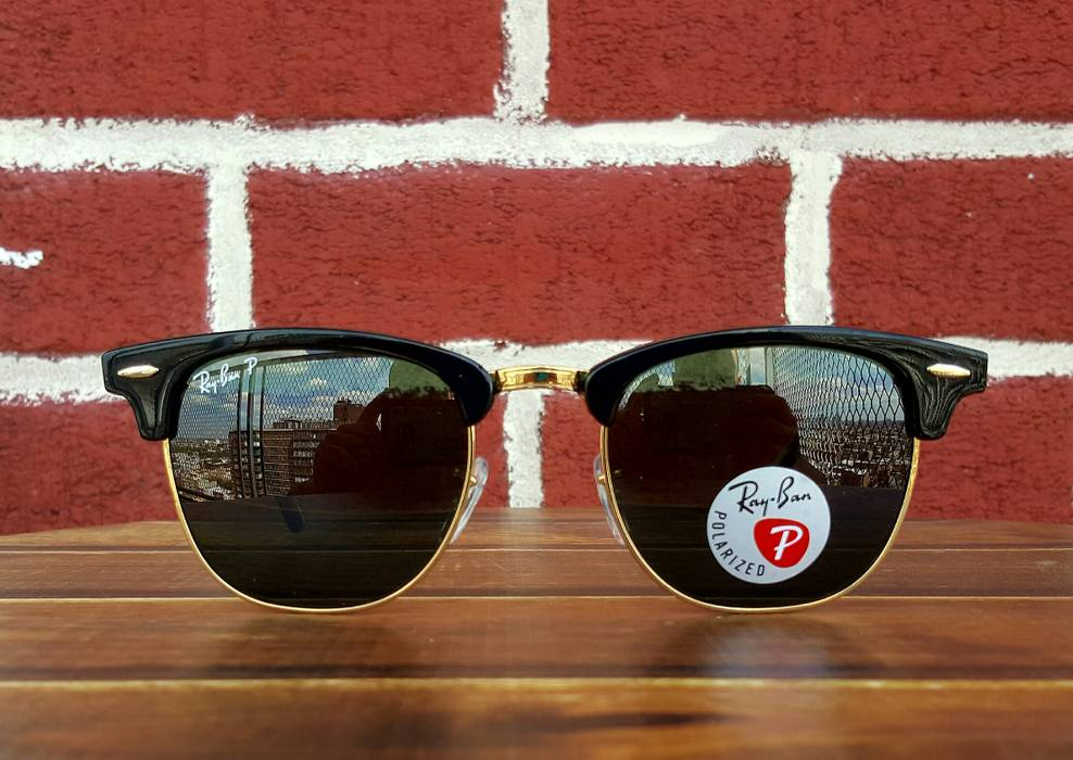 8a89df58ccc RayBan ✓Ray-Ban 3016 Clubmaster Polarized 51mm Men s Unisex 👫 Size ONE SIZE