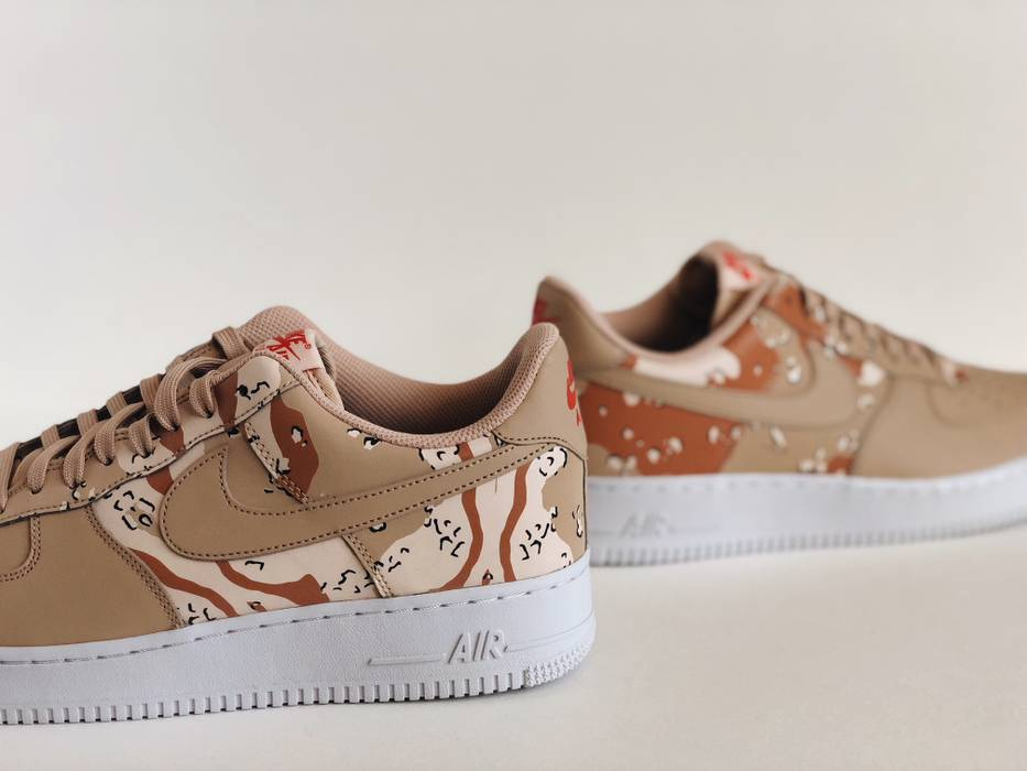 Nike NIKE AIR FORCE 1  SZ 11.5  LV8 07 SHOES BIO BEIGE DESERT CAMO ... c2fbdd74f245