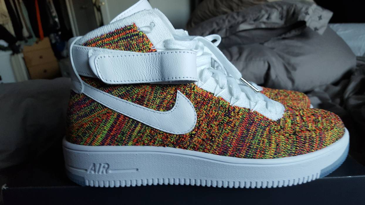 9f8407bf644bb Nike Nike air force 1 ultra flyknit multi color Size 8 - Hi-Top ...
