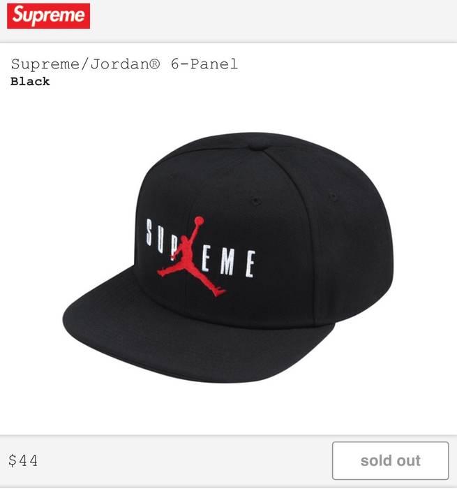 Supreme Supreme x Jordan 6-Panel Cap Size one size - Hats for Sale ... 52d75c13404