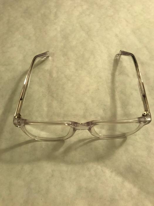 8fddc9fbf14d Warby Parker BRAND NEW Chamberlain Eyeglasses Crystal Clear With Understand  silver Accents On Arm Size ONE