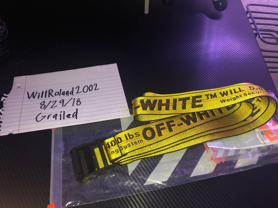 b2d35b8866a4 Off-White Yellow Industrial Belt Size one size - Belts for Sale ...