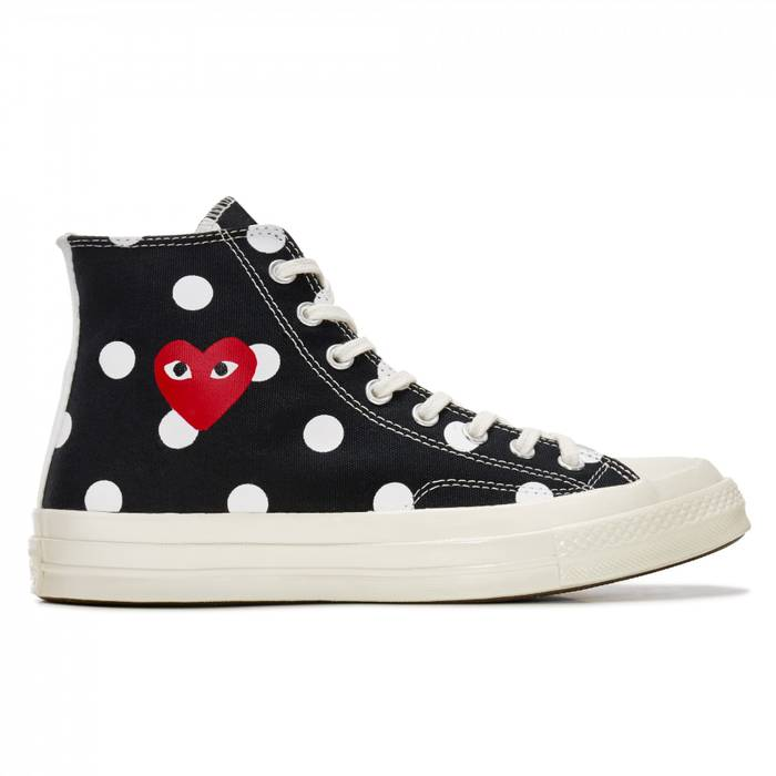 3b773bbaf347a3 Converse × Comme des Garcons. Play Converse Polka Dot Chuck Taylor All Star   70 High (Black). Size  US 10   EU 43