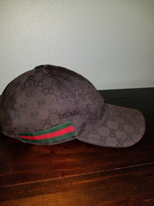 12054e61eab Gucci Original GG canvas baseball hat with Web Size one size - Hats ...