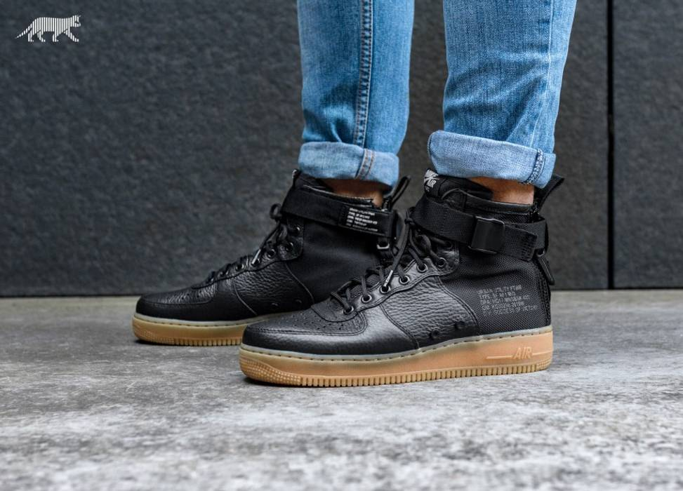 729e368b303bd0 Nike SF-AF1 BLACK GUM Size 11.5 - Hi-Top Sneakers for Sale - Grailed