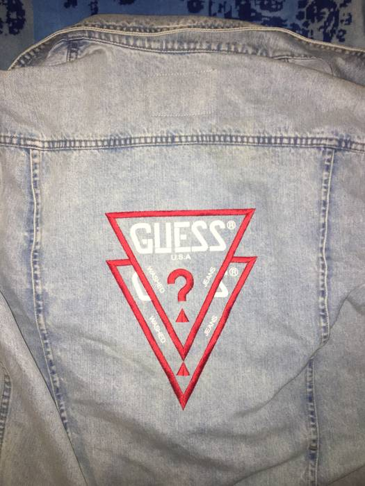 5c83d638b64 Asap Rocky. Asap Rocky x Guess Jeans Vintage OG Logo Light Wash Denim Jacket