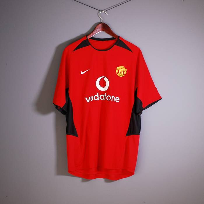 980a55a26 Nike Football Manchester United Sport Vodafone Red T Shirt. Vodafone T Shirt  Picture And Foto