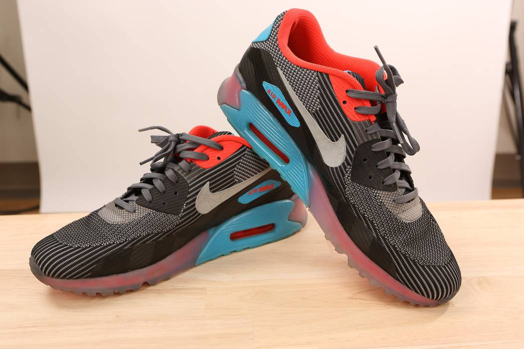 7c29e101ac3c Nike Air Max 90 Knit Jacquard ICE Dark Grey Size 13 - Low-Top ...