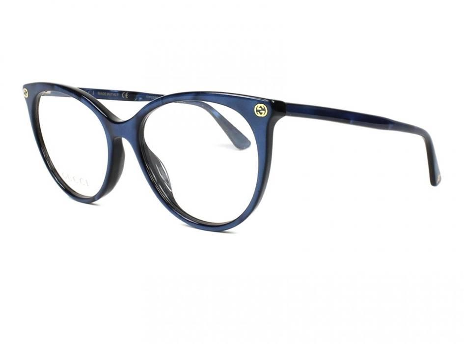 0c86a697e98 Gucci New Gucci Blue Cat Eye Eyeglasses Frames Size One Size