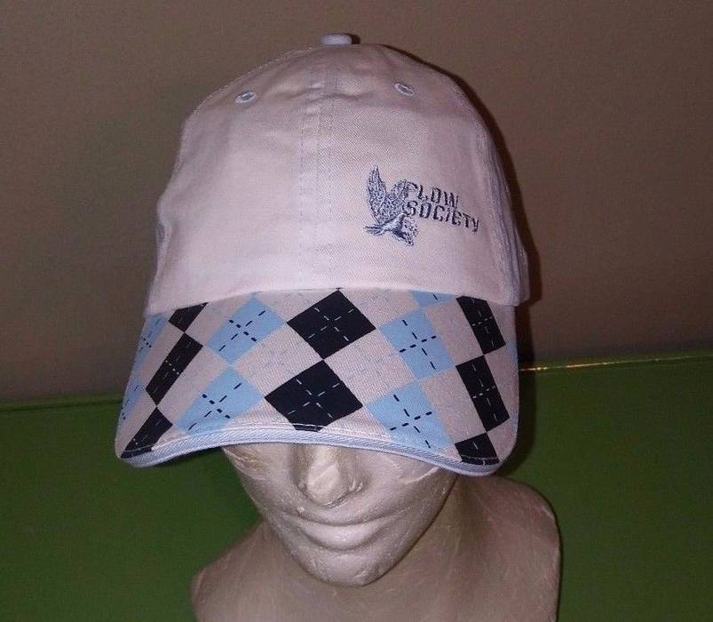 Other. NWT Flow Society Lacrosse Golf Baseball Hat Blue   Black Argyle  Strapback e6e83fed4fc