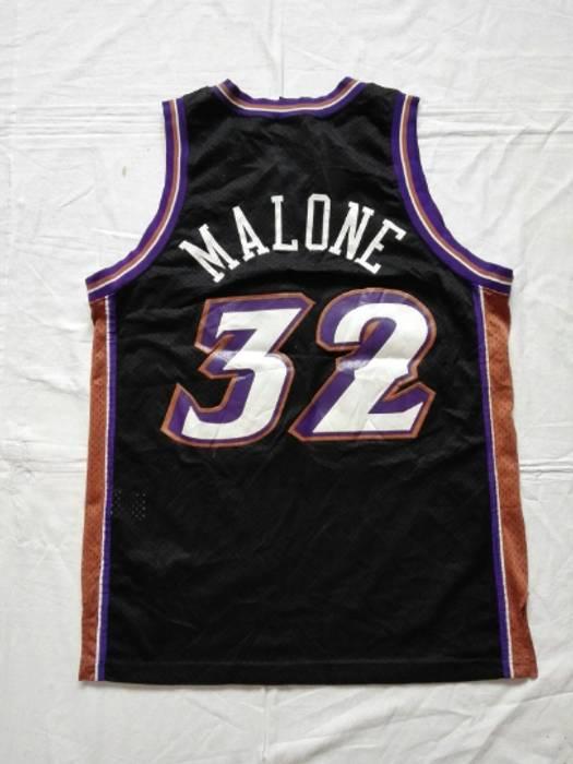Nba Vintage Utah Jazz  32 Karl Malone NBA Nike Jersey Size Large Size US L c080e4deb