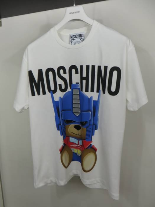 d79878b41a4 Moschino Transformers teddy bear t-shirt Size s - Short Sleeve T ...