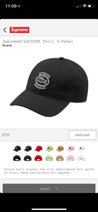 Supreme Supreme Lacoste Dad Hat Size one size - Hats for Sale - Grailed 53c1c9bed39