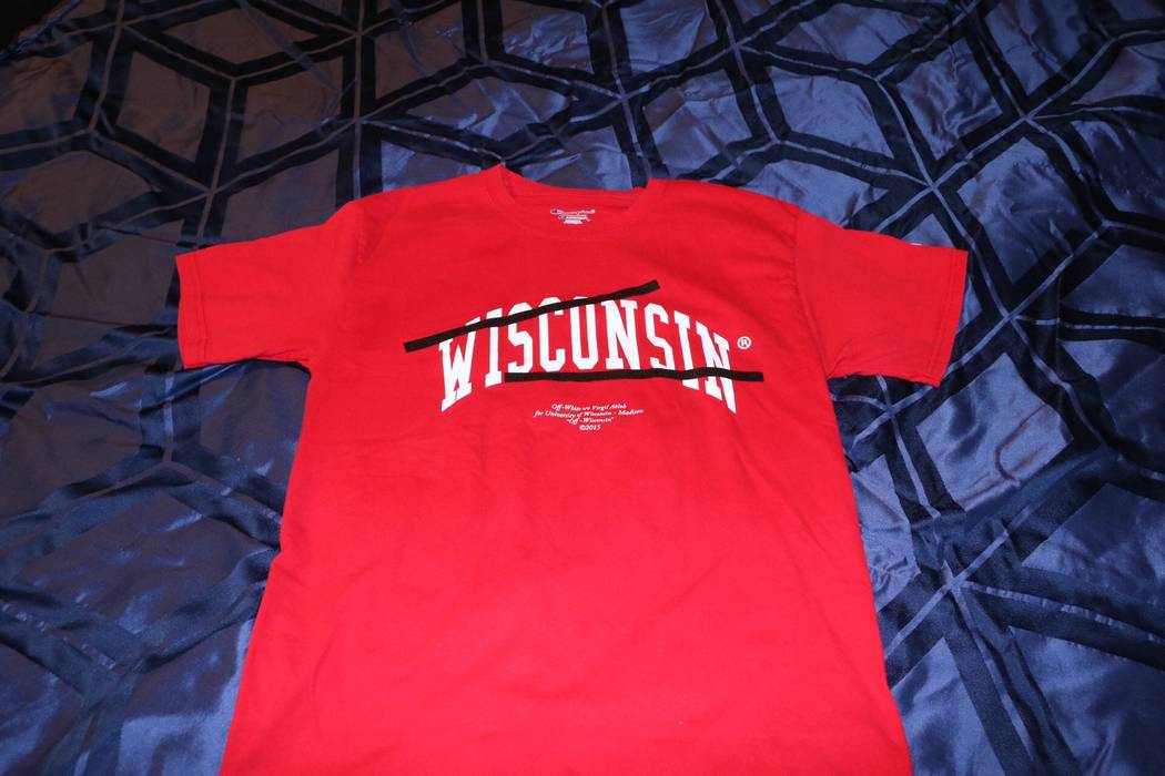 d3d4967470a0 Off-White Red Wisconsin Tee Size m - Long Sleeve T-Shirts for Sale ...