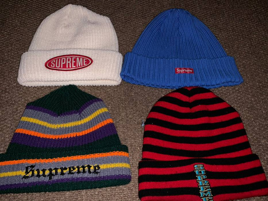 Supreme SUPREME BEANIE LOT 4 BEANIES Size one size - Hats for Sale ... c115b56c3b2