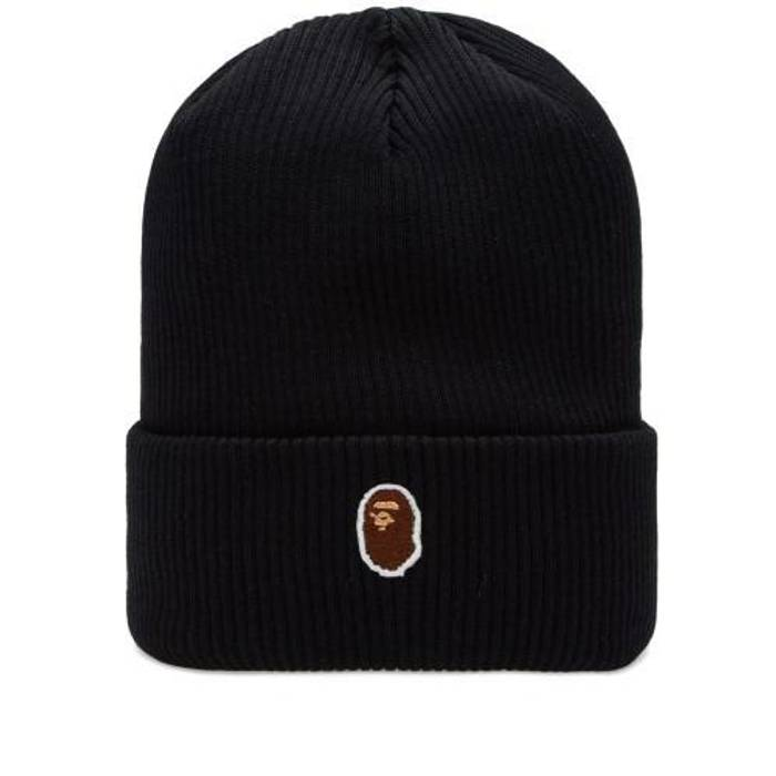 Bape Bape One Point Knit Beanie A Bathing Ape Black Size one size ... 9c82edcabc5