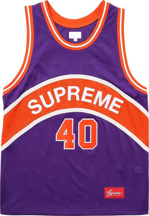 38e21b094 Supreme Supreme Curve Basketball Jersey SS17 Size US M   EU 48-50   2