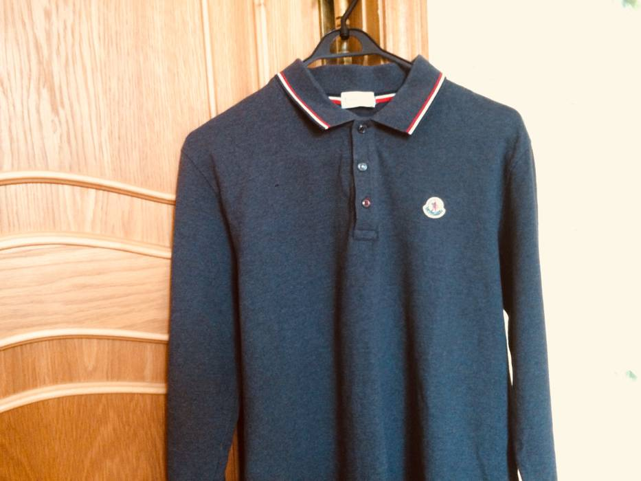 Moncler Moncler Long sleeve Polo Shirt not Louis vuitton hermes gucci  balenciaga balmain fendi rick owens ... 33aff25f53baf