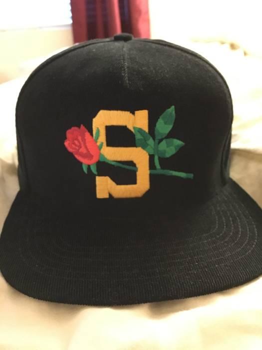 Supreme Supreme Rose Cord Hat 5 Panel (Black) Size one size - Hats ... a3f149f641e