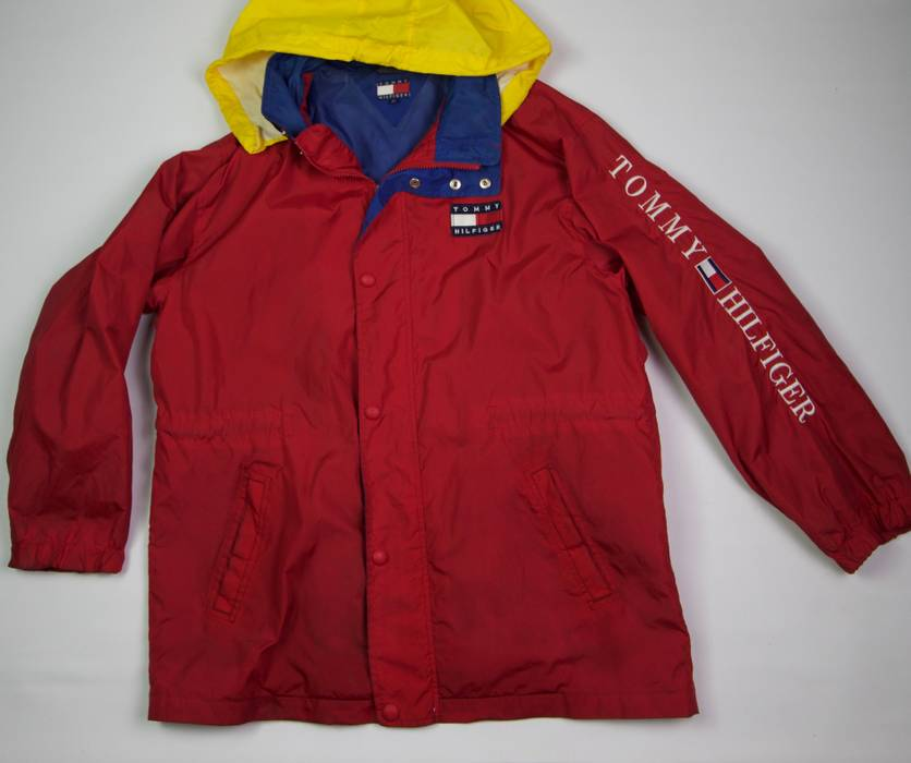 a7a6a76e9 Vintage *FINAL PRICE DROP* VTG 90s Tommy Hilfiger Spellout Windbreaker  Primary Colors Size US