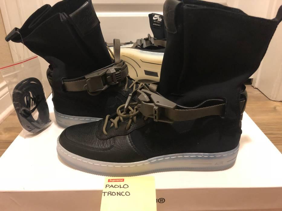 newest f19bb 1d647 Nike AF1 Air Force 1 Downtown HI SP Lunar - Black  Black  Olive Size