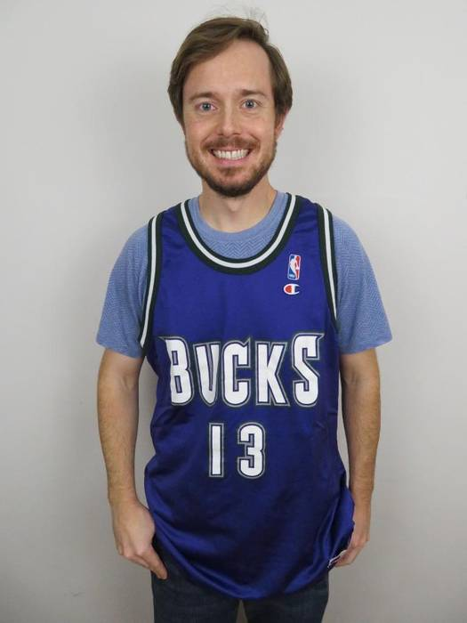 053057b8c Vintage Champion Glenn Robinson Milwaukee Bucks NBA Jersey Mens 48 Large XL  Vintage 90s Size US