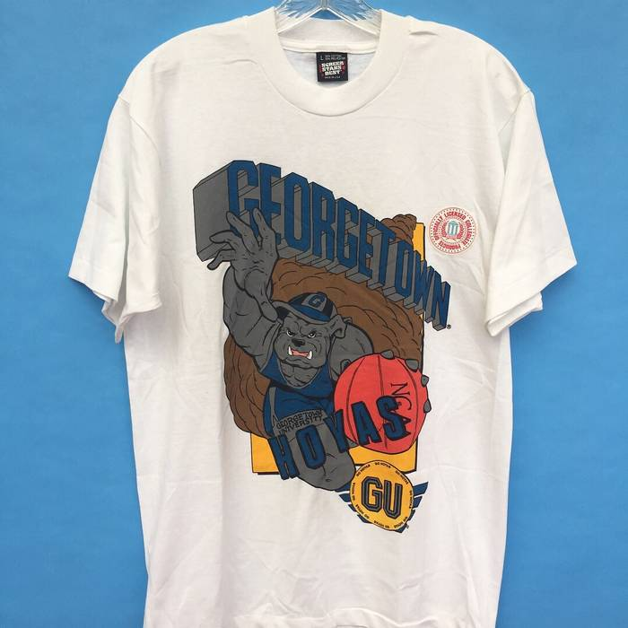 Vintage 1984 Georgetown Hoyas Basketball Screen Stars Made In USA Tee Shirt Size US L