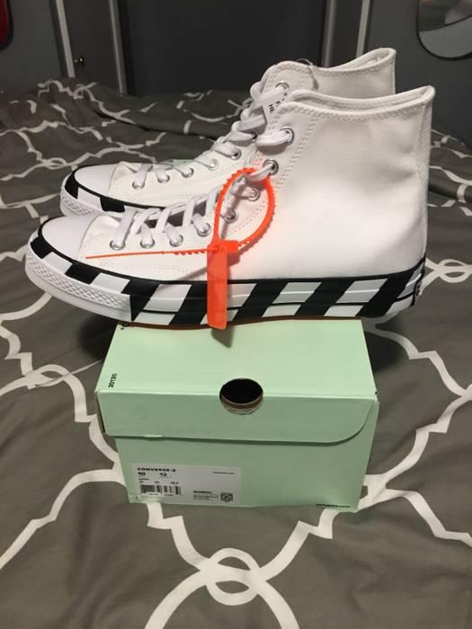 Off-White Nike Converse Off White High Size 10 Brand New 100% Authentic Size e6cc07e2b