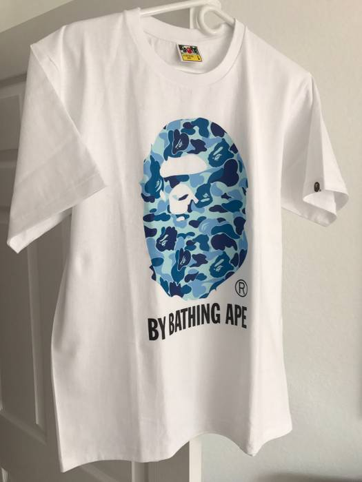 c5ecdd33e Bape BAPE ABC CAMO APE HEAD TEE (blue) Size l - Short Sleeve T ...