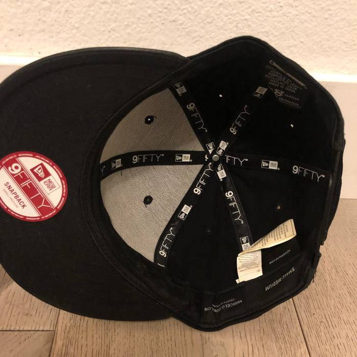 387c50f12c5 Marcelo Burlon New Era Marcelo Burlon County Of Milan 9Fifty SnapBack Hat OS  All Black Leather