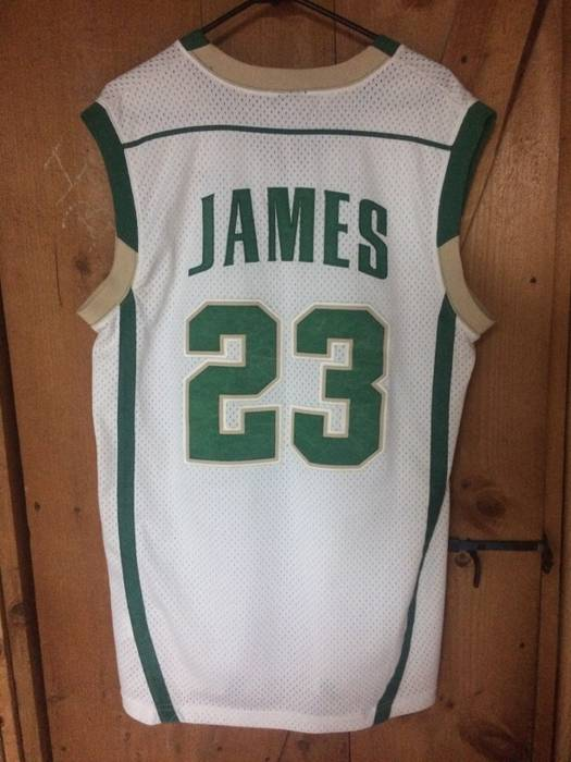 Nike. LeBron James (St. Vincent-St. Mary s High School) Throwback Jersey.  Size  US M ... dcc0e9909