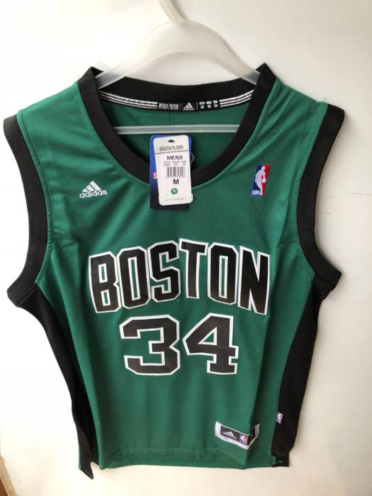30ab8ce4ca4 Adidas Boston Celtics  34 Paul Pierce Green Black Men NBA Swingman Icon  Edition Jersey Size US